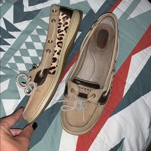 Sperry Top Sider w/ Leopard Print Sides